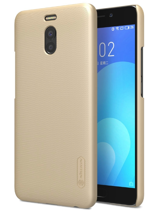 Чехол бампер NILLKIN Super Frosted Shield для Meizu M6 Note (золотой)
